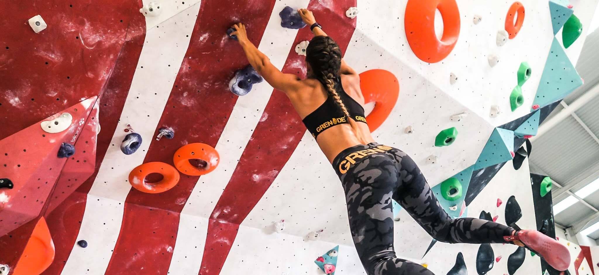 Hayley Madigan climbing